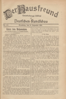 Der Hausfreund : Unterhaltungs-Beilage zur Deutschen Rundschau. 1929, Nr. 294 (31 Dezember)