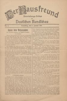 Der Hausfreund : Unterhaltungs-Beilage zur Deutschen Rundschau. 1930, Nr. 2 (3 Januar)
