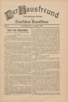 Der Hausfreund : Unterhaltungs-Beilage zur Deutschen Rundschau. 1930, Nr. 8 (11 Januar)