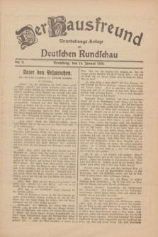 Der Hausfreund : Unterhaltungs-Beilage zur Deutschen Rundschau. 1930, Nr. 9 (12 Januar)