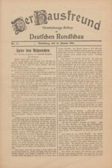 Der Hausfreund : Unterhaltungs-Beilage zur Deutschen Rundschau. 1930, Nr. 11 (15 Januar)