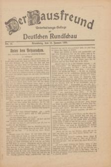 Der Hausfreund : Unterhaltungs-Beilage zur Deutschen Rundschau. 1930, Nr. 12 (16 Januar)