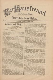 Der Hausfreund : Unterhaltungs-Beilage zur Deutschen Rundschau. 1930, Nr. 21 (26 Januar)