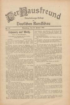 Der Hausfreund : Unterhaltungs-Beilage zur Deutschen Rundschau. 1930, Nr. 22 (28 Januar)