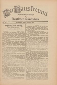 Der Hausfreund : Unterhaltungs-Beilage zur Deutschen Rundschau. 1930, Nr. 26 (1 Februar)