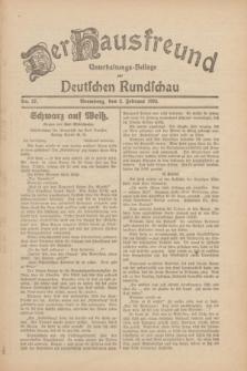 Der Hausfreund : Unterhaltungs-Beilage zur Deutschen Rundschau. 1930, Nr. 27 (2 Februar)