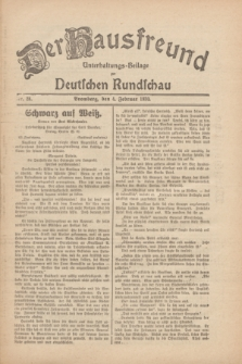 Der Hausfreund : Unterhaltungs-Beilage zur Deutschen Rundschau. 1930, Nr. 28 (4 Februar)