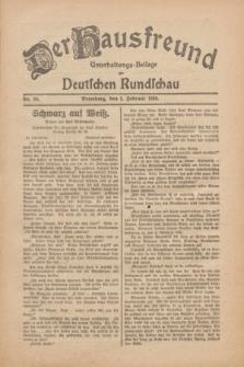 Der Hausfreund : Unterhaltungs-Beilage zur Deutschen Rundschau. 1930, Nr. 29 (5 Februar)