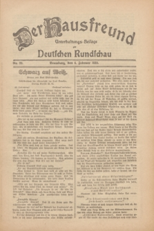 Der Hausfreund : Unterhaltungs-Beilage zur Deutschen Rundschau. 1930, Nr. 30 (6 Februar)
