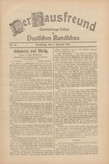 Der Hausfreund : Unterhaltungs-Beilage zur Deutschen Rundschau. 1930, Nr. 33 (9 Februar)