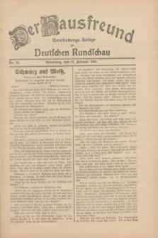 Der Hausfreund : Unterhaltungs-Beilage zur Deutschen Rundschau. 1930, Nr. 35 (12 Februar)
