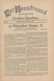 Der Hausfreund : Unterhaltungs-Beilage zur Deutschen Rundschau. 1930, Nr. 36 (13 Februar)