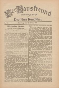 Der Hausfreund : Unterhaltungs-Beilage zur Deutschen Rundschau. 1930, Nr. 37 (14 Februar)