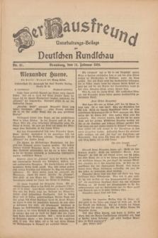 Der Hausfreund : Unterhaltungs-Beilage zur Deutschen Rundschau. 1930, Nr. 41 (19 Februar)