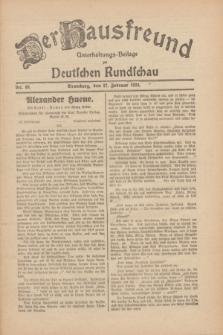 Der Hausfreund : Unterhaltungs-Beilage zur Deutschen Rundschau. 1930, Nr. 48 (27 Februar)
