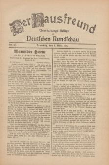 Der Hausfreund : Unterhaltungs-Beilage zur Deutschen Rundschau. 1930, Nr. 57 (9 März)