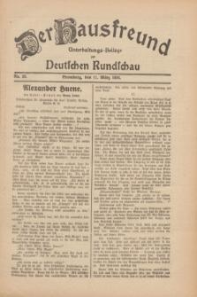Der Hausfreund : Unterhaltungs-Beilage zur Deutschen Rundschau. 1930, Nr. 58 (11 März)
