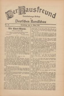 Der Hausfreund : Unterhaltungs-Beilage zur Deutschen Rundschau. 1930, Nr. 60 (13 März)