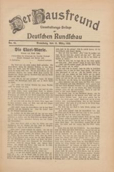Der Hausfreund : Unterhaltungs-Beilage zur Deutschen Rundschau. 1930, Nr. 62 (15 März)