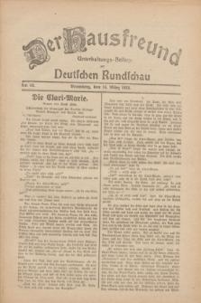 Der Hausfreund : Unterhaltungs-Beilage zur Deutschen Rundschau. 1930, Nr. 63 (16 März)