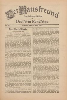 Der Hausfreund : Unterhaltungs-Beilage zur Deutschen Rundschau. 1930, Nr. 64 (18 März)