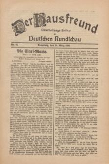 Der Hausfreund : Unterhaltungs-Beilage zur Deutschen Rundschau. 1930, Nr. 65 (19 März)