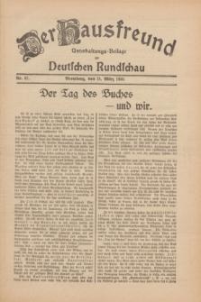 Der Hausfreund : Unterhaltungs-Beilage zur Deutschen Rundschau. 1930, Nr. 67 (21 März)