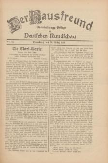 Der Hausfreund : Unterhaltungs-Beilage zur Deutschen Rundschau. 1930, Nr. 73 (28 März)