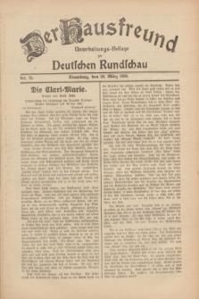 Der Hausfreund : Unterhaltungs-Beilage zur Deutschen Rundschau. 1930, Nr. 75 (30 März)