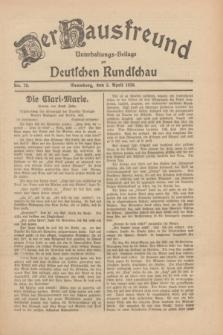 Der Hausfreund : Unterhaltungs-Beilage zur Deutschen Rundschau. 1930, Nr. 78 (3 April)