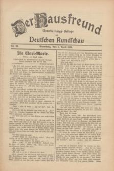 Der Hausfreund : Unterhaltungs-Beilage zur Deutschen Rundschau. 1930, Nr. 80 (5 April)