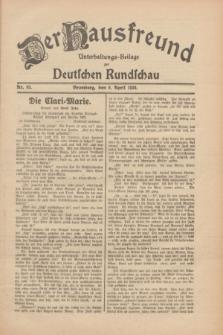 Der Hausfreund : Unterhaltungs-Beilage zur Deutschen Rundschau. 1930, Nr. 83 (9 April)