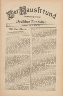 Der Hausfreund : Unterhaltungs-Beilage zur Deutschen Rundschau. 1930, Nr. 88 (15 April)
