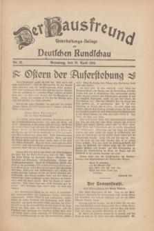 Der Hausfreund : Unterhaltungs-Beilage zur Deutschen Rundschau. 1930, Nr. 92 (20 April)