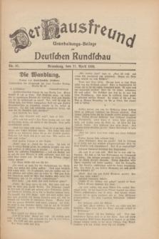 Der Hausfreund : Unterhaltungs-Beilage zur Deutschen Rundschau. 1930, Nr. 97 (27 April)