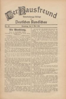 Der Hausfreund : Unterhaltungs-Beilage zur Deutschen Rundschau. 1930, Nr. 105 (8 Mai)