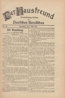 Der Hausfreund : Unterhaltungs-Beilage zur Deutschen Rundschau. 1930, Nr. 106 (9 Mai)