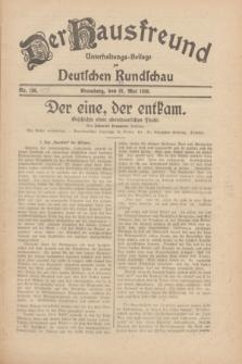 Der Hausfreund : Unterhaltungs-Beilage zur Deutschen Rundschau. 1930, Nr. 109 (13 Mai)