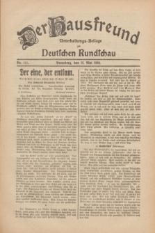Der Hausfreund : Unterhaltungs-Beilage zur Deutschen Rundschau. 1930, Nr. 111 (15 Mai)