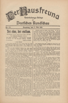 Der Hausfreund : Unterhaltungs-Beilage zur Deutschen Rundschau. 1930, Nr. 113 (17 Mai)