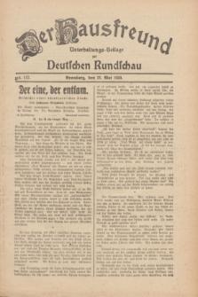 Der Hausfreund : Unterhaltungs-Beilage zur Deutschen Rundschau. 1930, Nr. 117 (22 Mai)