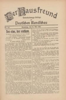 Der Hausfreund : Unterhaltungs-Beilage zur Deutschen Rundschau. 1930, Nr. 119 (24 Mai)
