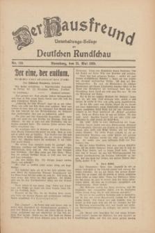 Der Hausfreund : Unterhaltungs-Beilage zur Deutschen Rundschau. 1930, Nr. 120 (25 Mai)