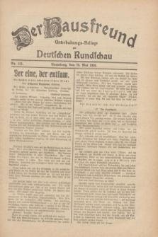 Der Hausfreund : Unterhaltungs-Beilage zur Deutschen Rundschau. 1930, Nr. 122 (28 Mai)