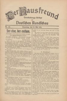 Der Hausfreund : Unterhaltungs-Beilage zur Deutschen Rundschau. 1930, Nr. 123 (29 Mai)