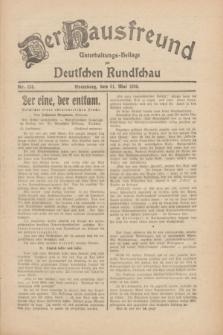 Der Hausfreund : Unterhaltungs-Beilage zur Deutschen Rundschau. 1930, Nr. 124 (31 Mai)