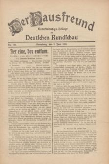 Der Hausfreund : Unterhaltungs-Beilage zur Deutschen Rundschau. 1930, Nr. 126 (3 Juni)