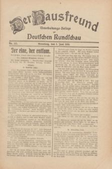 Der Hausfreund : Unterhaltungs-Beilage zur Deutschen Rundschau. 1930, Nr. 127 (4 Juni)