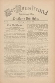 Der Hausfreund : Unterhaltungs-Beilage zur Deutschen Rundschau. 1930, Nr. 129 (6 Juni)