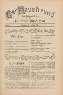 Der Hausfreund : Unterhaltungs-Beilage zur Deutschen Rundschau. 1930, Nr. 131 (8 Juni)